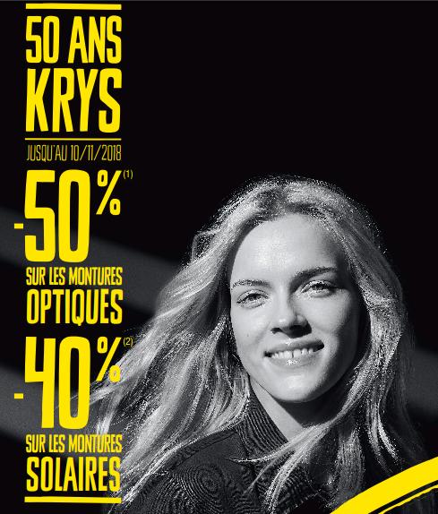 252760e25caab0 Offre spéciale pour les 50 ans de KRYS jusqu au 10 novembre ...